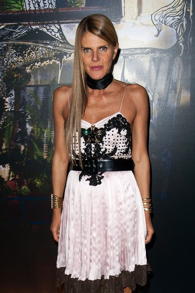 Anna dello Russo attended the Givenchy fashion show wearing a luxe gold cuff by Ca & Lou.