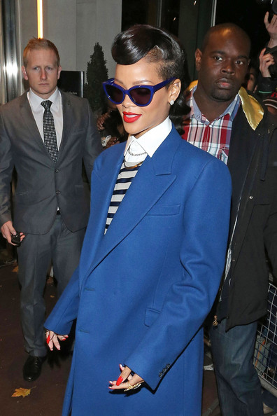 More Pics of Rihanna Cateye Sunglasses (1 of 8) - Cateye Sunglasses Lookbook - StyleBistro