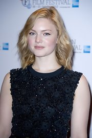 Holliday Grainger went effortless and natural as she wore her waves down at the Robbie Coltrane photocall.