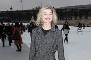 Rosamund Pike Wool Coat