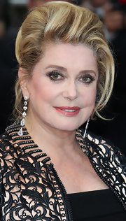 The French Actress glistened in diamond earrings at the closing ceremony for the Cannes Film Festival.