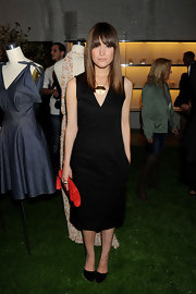 Rose was sophisticated at the Derek Lam presentation in classic LBD.