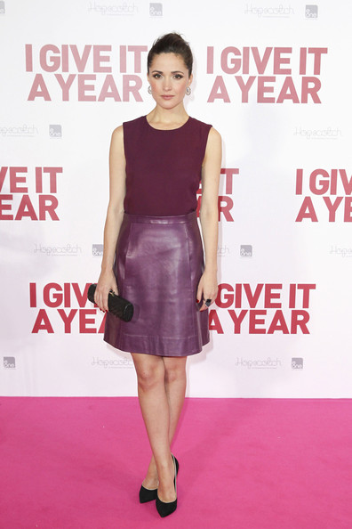 More Pics of Rose Byrne Leather Dress (2 of 7) - Dresses & Skirts Lookbook - StyleBistro