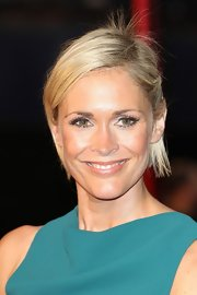 Jenni Falconer wore her short blonde crop parted to the side and off her face at the premiere of 'Anna Karenina' in London.