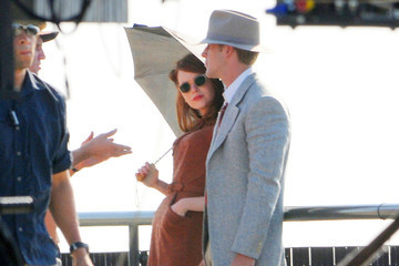"Ryan Gosling Emma Stone Ryan Gosling and Emma Stone Film ""The Gangsters Squad"""