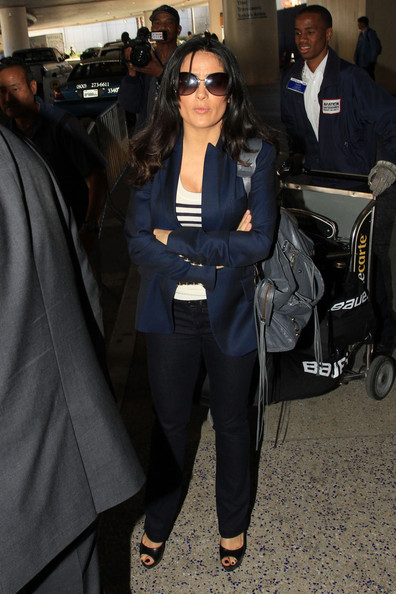 More Pics of Salma Hayek Blazer (1 of 18) - Salma Hayek Lookbook - StyleBistro