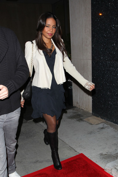 Sanaa Lathan Knee High Boots