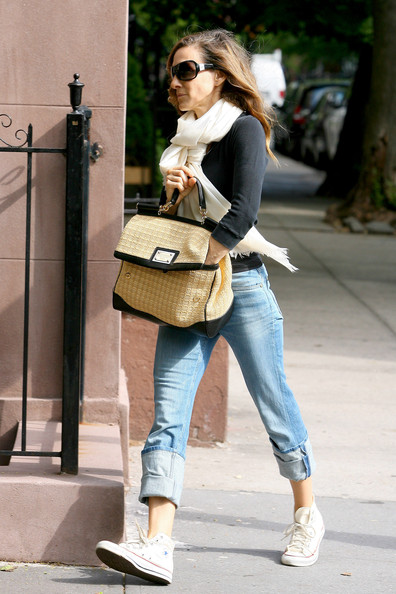 More Pics of Sarah Jessica Parker Canvas Shoes (1 of 10) - Casual Shoes Lookbook - StyleBistro []