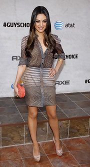 Mila donned a delicate sheer print button-down for the Spike 'Guys Choice' Awards.