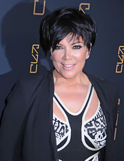Kris Jenner arrived at the opening of Scott Disick's RYU restaurant in NYC wearing her choppy 'do stylishly tousled.