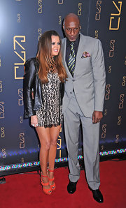 Lamar Odom looked downright dapper in a gray suit during the opening of Scott Disick's restaurant.