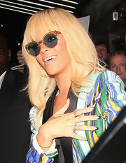 Rihanna stepped out in London sporting an ombre-tipped manicure.