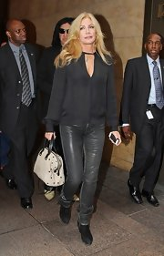 Shannon Tweed was spotted carrying a doctor's tote while out in NYC.
