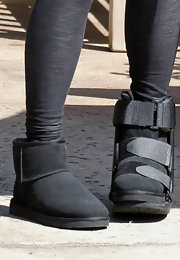 Shannon Tweed was spotted in LA wearing a comfy pair of UGGS.