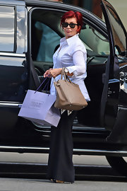 Sharon Osbourne carried a brown Birkin while out in NYC.