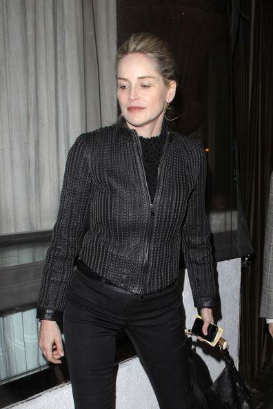 Sharon Stone Leather Jacket