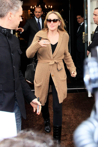 More Pics of Sharon Stone Mid-Calf Boots (1 of 13) - Sharon Stone Lookbook - StyleBistro