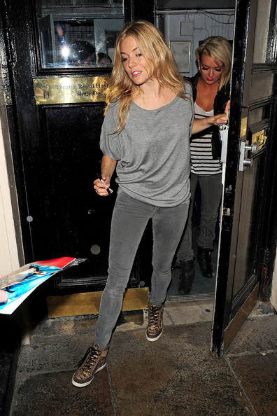 Sienna Miller Leather Sneakers