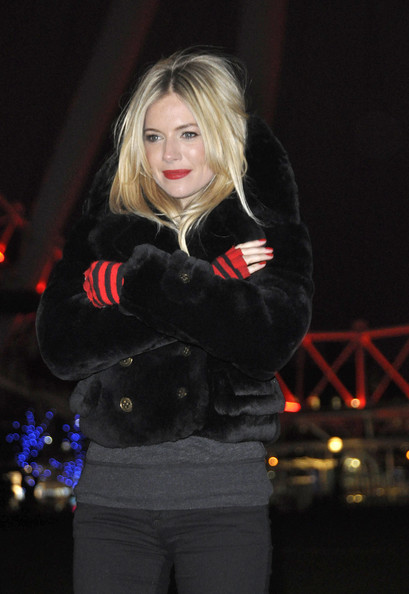 Sienna Miller Fur Coat