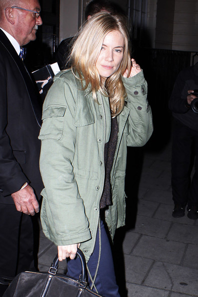 More Pics of Sienna Miller Bomber Jacket (1 of 4) - Sienna Miller Lookbook - StyleBistro