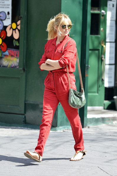More Pics of Sienna Miller Jumpsuit (1 of 9) - Sienna Miller Lookbook - StyleBistro