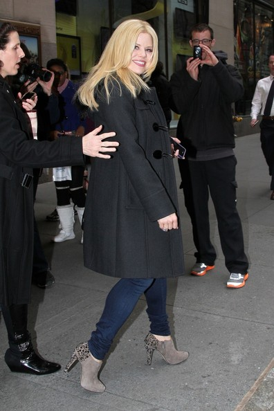 More Pics of Megan Hilty Wool Coat (1 of 10) - Megan Hilty Lookbook - StyleBistro