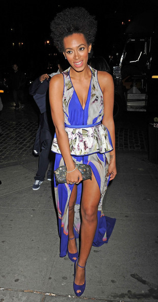 Solange Knowles Fishtail Dress