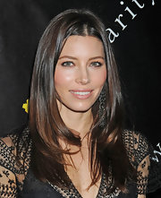 Jessica Biel wore her long chestnut tresses sleek and straight at the 6th Annual Charity Ball.
