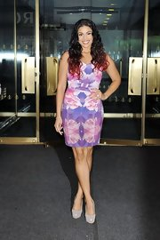 Jordin Sparks was a brilliant standout in her mirrored floral print sheath dress.
