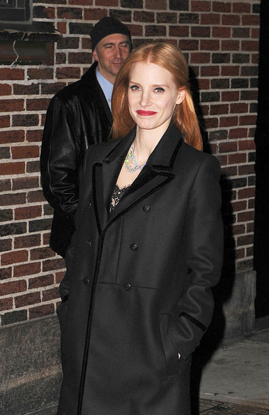 More Pics of Jessica Chastain Wool Coat (3 of 5) - Wool Coat Lookbook - StyleBistro