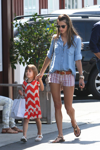 More Pics of Alessandra Ambrosio Denim Shirt (1 of 11) - Alessandra Ambrosio Lookbook - StyleBistro