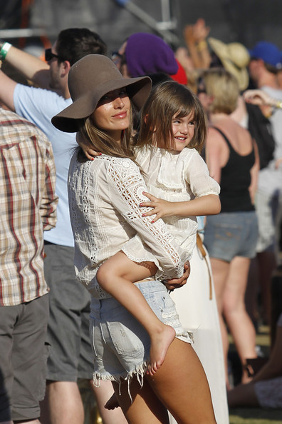 Alessandra Ambrosio and Daughter at Coachella