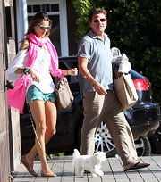 """Alessandra donned a white off-the-shoulder """"Wailea"""" tee while out and about with her family."""