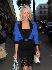 Lydia Rose Bright's flirty black pencil skirt was an ultra-feminine complement to her structured top.