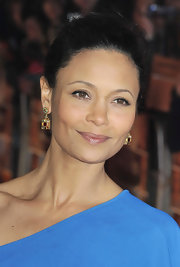 Thandie Newton wore a touch of soft sheer pearlescent gloss at the premiere of 'The Best Exotic Marigold Hotel.'