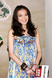Shu Qi showed off her medium length curls while hitting a press conference in Hong Kong.