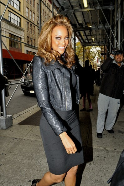 Tyra Banks Out and About in NYC