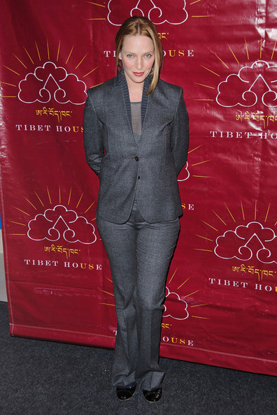 More Pics of Uma Thurman Pantsuit (2 of 18) - Uma Thurman Lookbook - StyleBistro