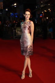 Jena Malone dazzled at the UK premiere of 'Sucker Punch' in glimmering silver chain-covered sandals.