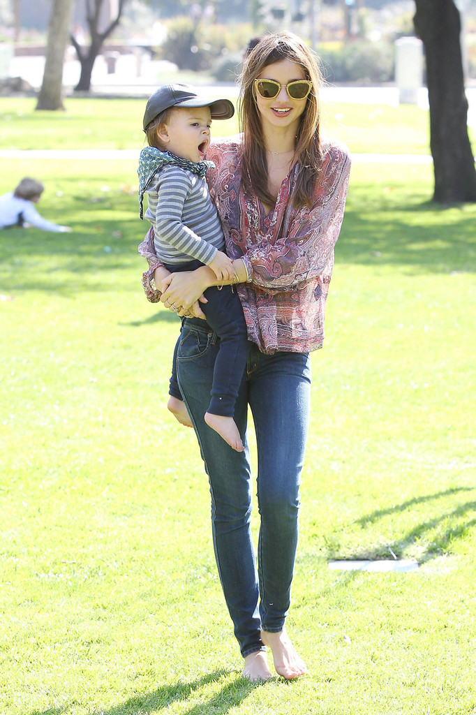 Miranda Kerr and Flynn at the Park