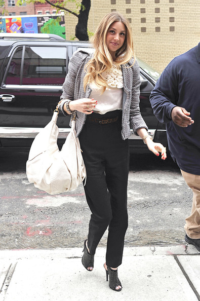 Whitney Port Leather Hobo Bag