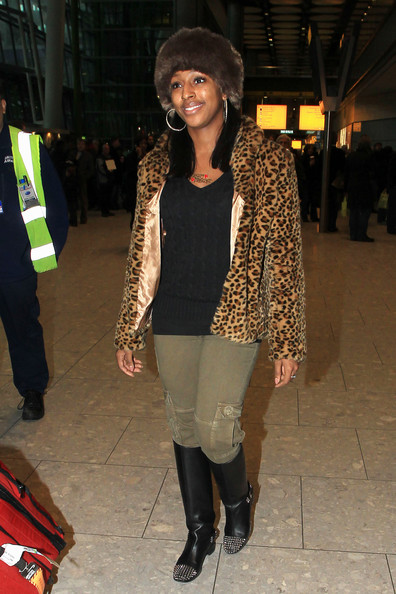 More Pics of Alexandra Burke Knee High Boots (2 of 7) - Alexandra Burke Lookbook - StyleBistro