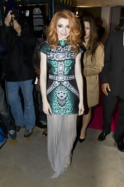 Nicola Roberts dares to be different in this Bodyamr dress at Cosmo's Women Of The Year Awards.