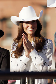 Kate Middleton was a rodeo queen at the Calgary Stampede wearing a white cowboy hat gifted to her upon her arrival.
