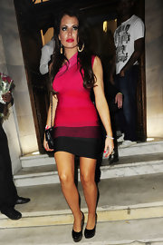 TV personality Jessica Wright donned over-sized hoop earrings for a cast party at Aura Nightclub.