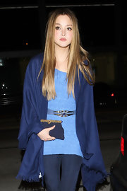 Model Devon Aoki showed off her long locks while hitting the Trousdale nightclub.