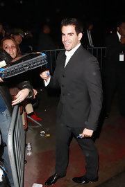 Eli Roth's perfectly tailored black suit was a dapper choice for the Scream Awards.
