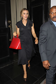 Brooke donned a black day dress with a tie belt while out in Hollywood.