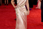 Lizzy Caplan One Shoulder Dress