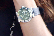 Adriana Lima Leather Band Quartz Watch